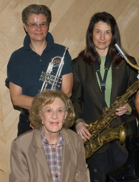 Ellen Seeling  Jean Fineberg  and Piano Jazz Legend Marian McPartland 6 9